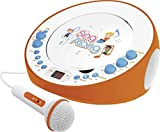 Dual CP 18 CD-Spieler mit Mikrofon (CD, 2 Mikrofon-Eingänge, Echo-Effekt, Stereoklang) Orange