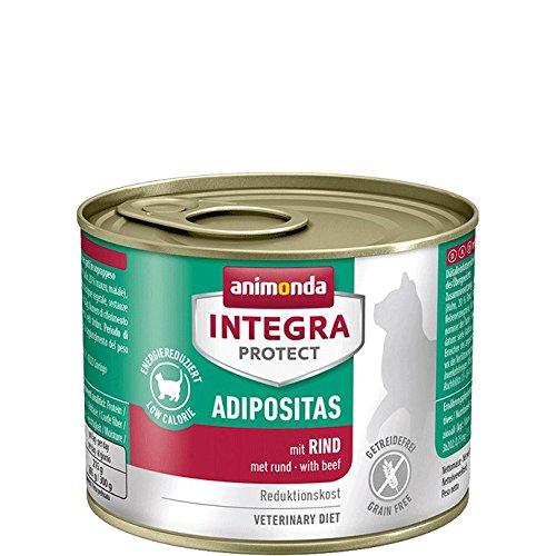 animonda Integra Protect mit Rind | Diät Katzenfutter | Nassfutter bei Übergewicht (6 x 200 g)