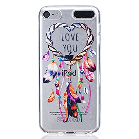 Coque Apple iPod Touch 6 / 5, Cozy Hut ® Coque Apple iPod Touch 6 / 5 [ Liquid Crystal ] Housse Etui TPU Silicone Clair Transparente Ultra Mince Premium Semi- transparent / Anti-scratch Antichoc / Extra Slim Douce Coque pour Apple iPod Touch 6 / 5 Generation - VOUS