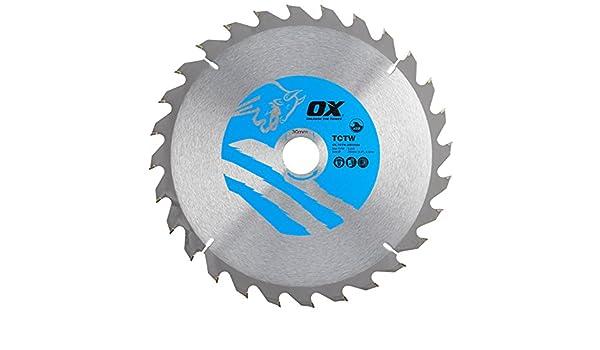 Silver//Blue 28 Teeth ATB 0 V OX Tools OX-TCTW-2503028 Hand Tool