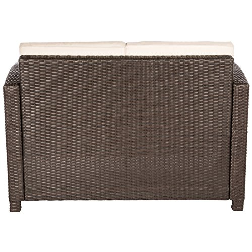 Ultranatura Poly-Rattan Lounge Sitzgruppe, Palma-Serie 4-teilig / Tisch + Couch + 2 Sessel inklusiv Auflagen - 5