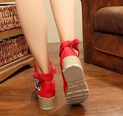 Lazutom , Sandales pour femme red
