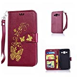 DENDICO Coque Galaxy Core Prime, Pochette en Cuir Etui Housse de Protection, Anti...