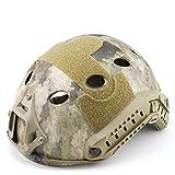 PJ Tipo rápido Molle Airsoft y Paintball Tactical Protectora rápido Casco ABS táctico máscara Jump Militar Casco, A-TACS