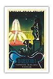 Warszawa () de Varsovia Polonia-Jardines del Palacio de Saxon-Fuente de Varsovie, Warschau (Varsovia)-Pologne, Polen (Polonia)-Vintage World Travel Poster por Tadeusz Gronowski c.1936-Fine Art Print, 24' x 36' Premium Giclée
