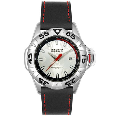 Immersion Men's 6947 Black Leather Watch