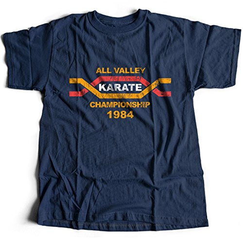 51%2BSxZDE5GL - Camiseta azul All Valley Karate Championship 1984