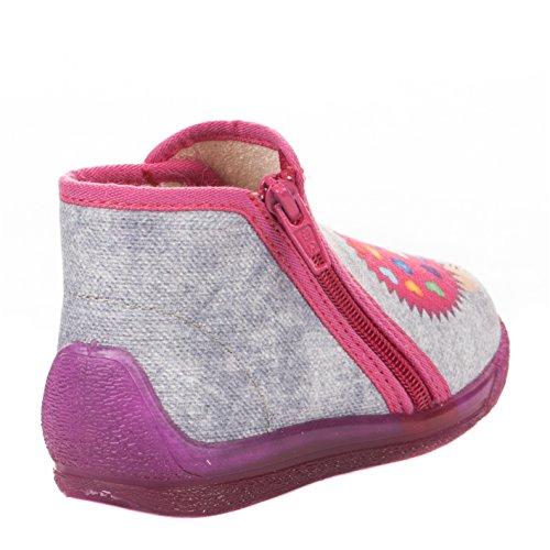 Pantoufles BELLAMY Rime bébé fille GRIS