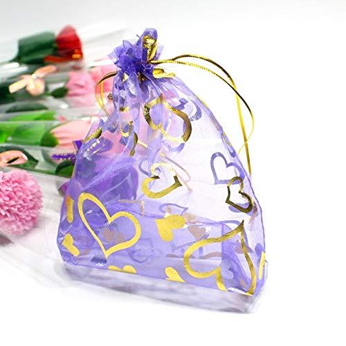 SMHILY 100 Teile/Satz Gaze Spitze Geschenk Taschen Eugen Garn Tasche Schmuck Paket Taschen Schmuck Zubehör Hochzeit Dekoration Favor Geschenk Tasche