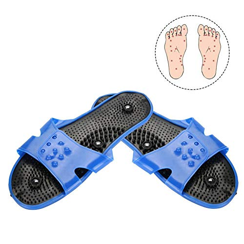 Akupressur Massage Hausschuhe, Magnetische Therapie Massage Schuhe Massage Hausschuhe Gesundheitspflege Blut Aktivierung Fuß Entspannung Massage Schuhe für Männer und Frauen -