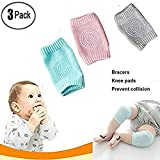 Photo de H-ONG 3PCS Baby Crawling Anti-Slip Knee Pads Protect Socks Toddlers Crawl Kneepads Elastic Soft Leg Protective Cover Leg Warmers Boys and Girls Unisex Baby par H-ONG