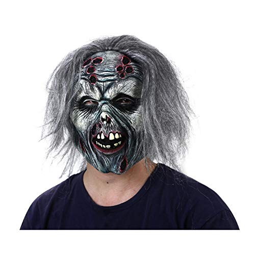 qiaoaoa Halloween Scary Clown Maske mit Haaren Dämon Horror Schlange Zunge Masken Zombie Clown Teufel Latex The Walking Dead - Schlange Zunge Kostüm