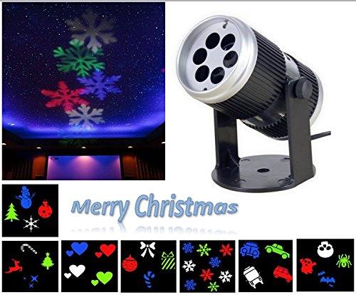Projektion Lichter, INNOPLUS Rotierende Multicolor Slide - Weihnachten LED Scheinwerfer für Geburtstag, Urlaub, Hochzeit, Party, Kinderzimmer, Garten, Wohnkultur (Wohnkultur)