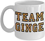 Team Ginge funny ginger hair novelty gift mug