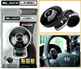 #10: Black Label Car Steering Wheel Powerless Spinner Knob - Black