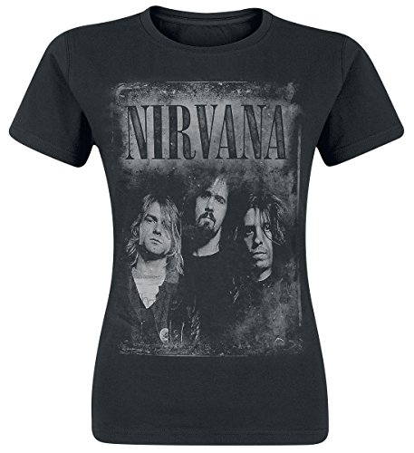 Nirvana Faded Faces Maglia donna nero M