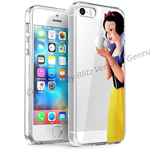 Blitz® DISNEY Schutz Hülle Transparent TPU Cartoon Comic Case iPhone Arielle, die Meerjungfrau iPhone 6 Schneewittchen