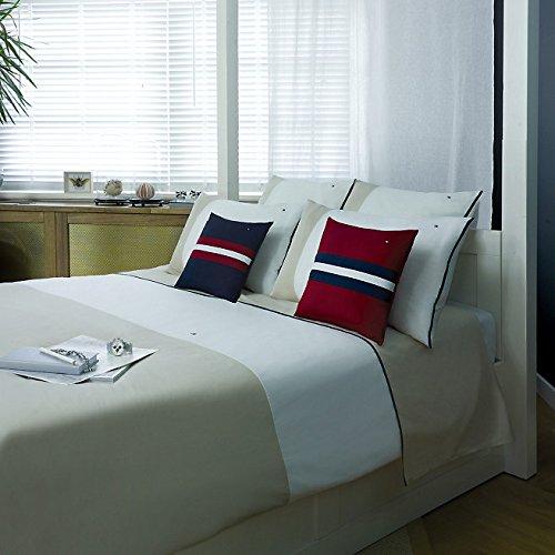 Tommy Hilfiger Bedding Colour Block White/Beige) 220X155 CM + Pillow Case  80 X