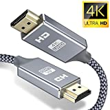 Cavo HDMI 4k Ultra HD [3m],Cavo HDMI 2.0 alta velocità Supporta Ethernet 3D,4K e ritorno audio-2160p Full HD 1080p 3D,Blu-Ray,Xbox 360 TV, Playstation PS3,PS4, HDTV,Arco,HDCP 2.2,HDR