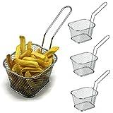 Bada Bing 4er Set Servierkorb Mini Korb Edelstahl Frittierkorb Für Pommes Und Speisen 24