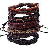 Enjoy Life Ensemble de 6 x Bracelets en Cuir 'Power' pour Homme et Femme   Bracelets...