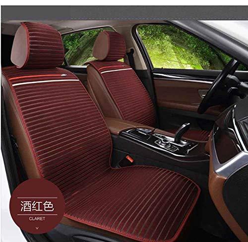 Dreamlife Cuscino for seggiolino Auto Pad Estivo Cool Pad ioni Negativi Quattro Stagioni Universale Facile da Pulire Volkswagen LaVida BMW Audi (Color : Red)