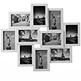 Deuba Cornici multifoto da Parete Montato 10 Foto 10x15cm Collage 56 x 50cm Bianco