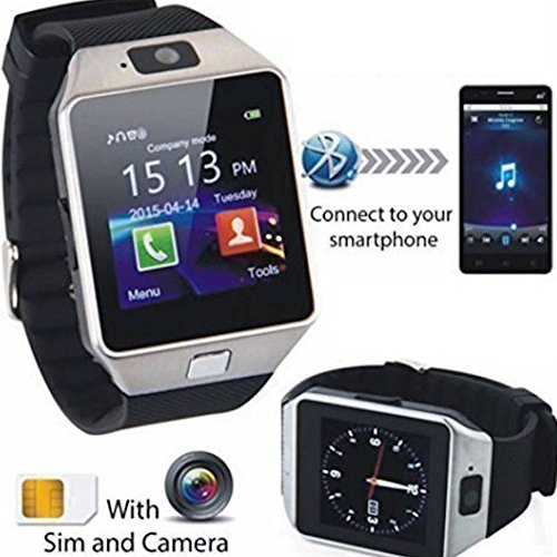 Hamee Wave Smart Watch SIM Enabled Bluetooth Lightweight Wristband, Compatible with 99% Android Smartphones iOS Apple iPhone 4/4S/5/5C/5S/6/6 Plus/6S/6S Plus, Samsung S2/S3/S4/Note 2/Note 3, Nexus 6, Moto G3/ G4, Xiaomi Redmi Note 2/3, Coolpad Note 2/3, HTC, Sony, Blackberry with Camera, Digital Touch Screen, Outdoor Sports Fitness Activity Tracker (Gold)
