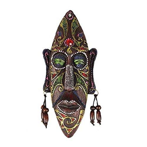 Kleine geschnitzte afrikanische Masken-Wand hängende Afrika-Dekor-Wand-Kunst-Schablone für Haus / Stab / Speicher / Kneipe, C (Afrikanische Kunst Afrika)