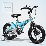 Magnesiumlegierung Rahmen Kinder Fahrrad 3-6 Jahre alt Kinder Fahrrad Männer und Frauen Kinderwagen Stoßdämpfer ( Color : Blue , Size : 14 inches )