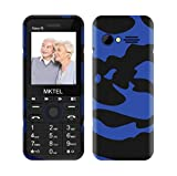 MKTEL Einfaches Handy, E1701 Mobiltelefon, Dual SIM Seniorenhandy mit Farbdisplay für Senioren, Kinder (5 Sprache, VGA Kamera, Bluetooth, extra Lange Akkulaufzeit, FM-Radio, Taschenlampe)-(MEHRWEG)