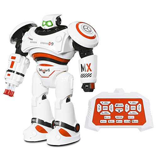 SGILE Groß Ferngesteuerter Roboter Spielzeug für Kinder, Intelligente Programmierung RC Roboter mit LED Licht und Musik, Spielzeugroboter Tanzen Singen Laufen RC Spielzeug für Kinder