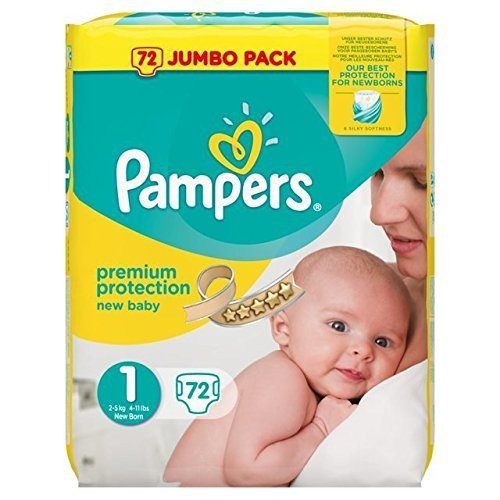 Pampers New Baby Nappies Size 1 Jumbo Pack 72 Case of 2 Total 144 Nappies_Sapphire Fashions 51 2BT7AKhunL