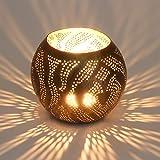 Orientalische Laterne Amor aus Messing | Windlicht Messinglaterne Handmade Gartenwindlicht Teelichthalter Kerzenhalter Tischlaterne | Marokkanische Messinglaterne für Lichtspiele wie aus 1001 Nacht