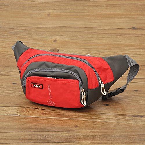 Travel Fanny Pack Taille Pack Tasche/Handys und Schlüssel Ring rot - rot
