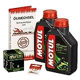 Ölwechselset Motul 5000 10W-40 Öl + HiFlo Ölfilter für Honda SH 300 i, Bj. 07-15 (Typ NF02); Motoröl + Filter + Dichtring
