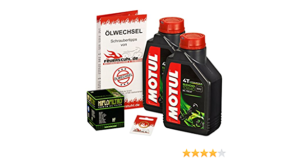 Motul 10w 40 Öl Hiflo Ölfilter Für Honda Sh 300 I 07 15 Nf02 Ölwechselset Inkl Motoröl Filter Dichtring Auto