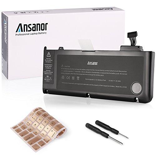 """Ansanor® 6000mAh batería del ordenador portátil súper capacidad de Apple A1322 MacBook Pro 13"""" A1278 (Mid 2009 Mid 2010 early 2011 late 2011 mid 2012) MB990*/A MB990LL/A MB990J/A + Cubierta del teclado-18 meses de garantía [10.95V 65.5Wh] A1322"""