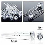 Chunky Crystal Clear Hair Pins Prom Bridal Bridesmaid Accessory Classy Silver Plated (30 Pins)