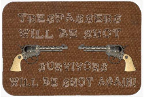 (tresspassers Will Be Shot Glas Schneidebrett groß Größe sb3063lcb)
