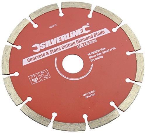 Silverline 868619 Stein- und Beton-Diamanttrennscheibe 150 x 22,23 mm, segmentiert