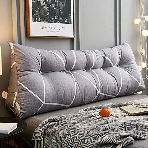HGDR Triangular Wedge Bedside Cushions Bett-Rückenkissen Großes Kopfteil Rückenstützkissen Lesekissen für die Lendenwirbelsäule mit abnehmbarem Baumwollbezug,B-80 * 20 * 50 cm -