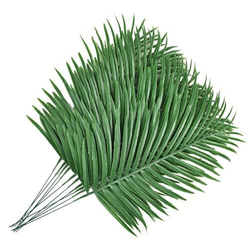 Lanldc 12Stück Faux Fake Tropical großen, Palm Blätter Künstliche Palm Pflanzen Blätter Nachahmung Künstliche Pflanzen für Home Party Hochzeit Dekorationen