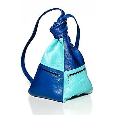 Hands-free Handbag Blue Ocean - handmade-bags