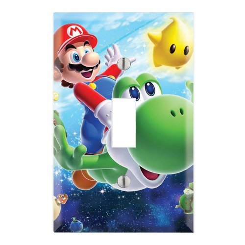 Light Switch Wall Plate (Super Mario Galaxy Yoshi Decorative Single Toggle Light Switch Wall Plate Cover by Decorate Plus)