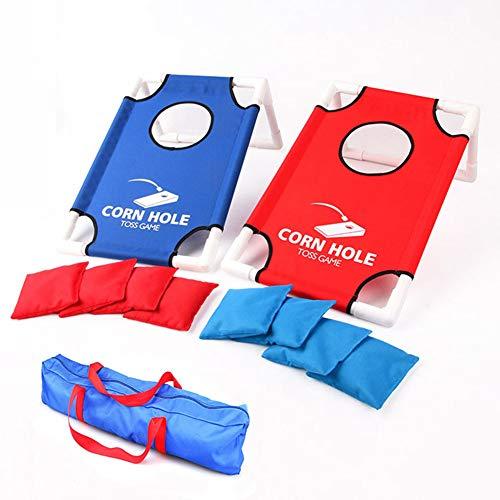 ZXYSHOP Tragbares PVC-gerahmtes Cornhole-Spielset mit 8 Sitzsäcken und Reisetasche - Platten Kinder Für Aufgeteilt