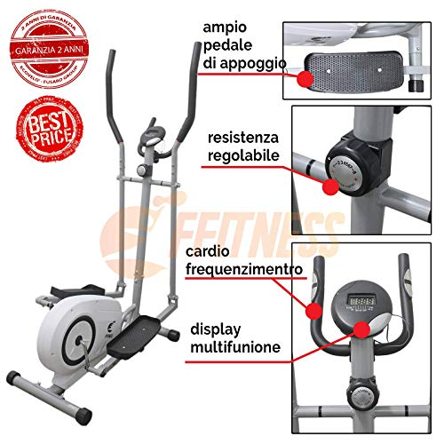 FFitness Bike Bici ELLITTICA Magnetica Home Trainer Bici da Fitness Professionale ERGOMETRO Cross Trainer Cardio Bici da Camera
