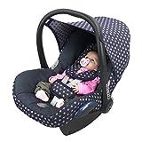 BAMBINIWELT Ersatzbezug für Maxi-Cosi CabrioFix 6-tlg, Bezug für Babyschale, Komplett-Set STERNE MARINE *NEU*