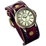 LANCARDO Herren Damen Leder Armbanduhr Analog mit Leder Armband 2858083