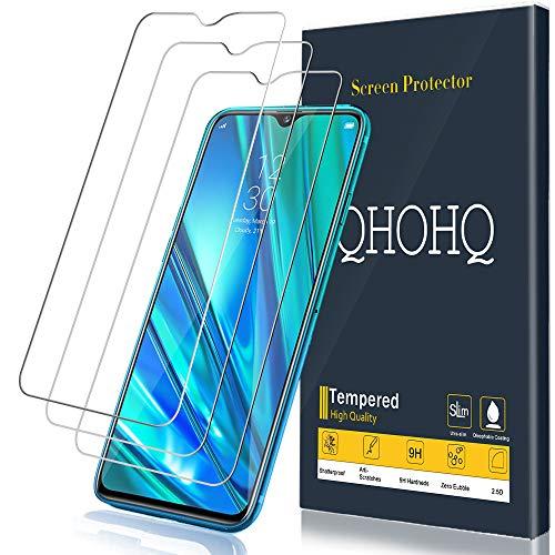 QHOHQ Verre Trempé pour Realme 5 Pro, [3 Pièces] 9H Dureté Anti Rayures Ultra Clair 3D Touch Protection écran pour Realme 5 Pro